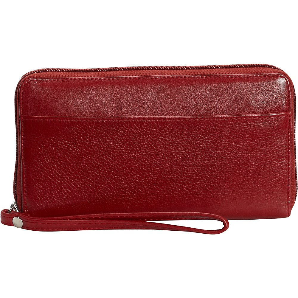 Derek Alexander Large Zip Around Wallet with Strap Red - Derek Alexander Womens Wallets - Women's SLG, Women's Wallets