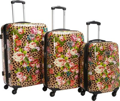 Chariot Leo Flower 3Pc Luggage Set Leo Flower - Chariot Luggage Sets