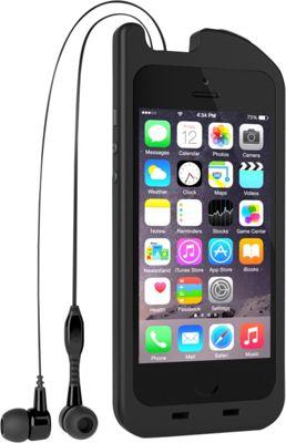 Digital Treasures TurtleCell Retractable Headphone Case for iPhone SE/5/5s Black - Digital Treasures Electronic Cases 10382703