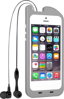 Digital Treasures TurtleCell Retractable Headphone Case for iPhone SE/5/5s Grey - Digital Treasures Electronic Cases