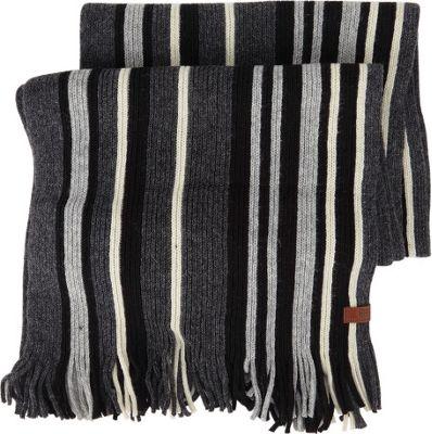 Ben Sherman Vertical Stripe Knit Scarf Jet Black - Ben Sherman Hats/Gloves/Scarves