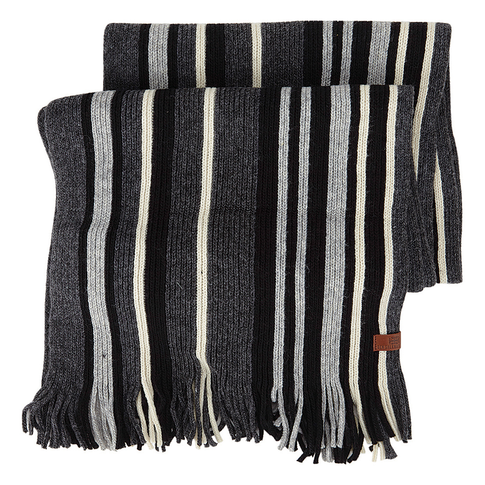 Ben Sherman Vertical Stripe Knit Scarf Jet Black Ben Sherman Hats Gloves Scarves