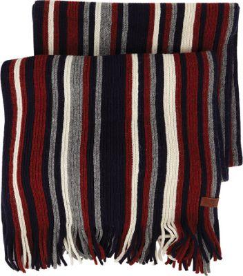 Ben Sherman Vertical Stripe Knit Scarf Navy Blazer - Ben Sherman Hats/Gloves/Scarves