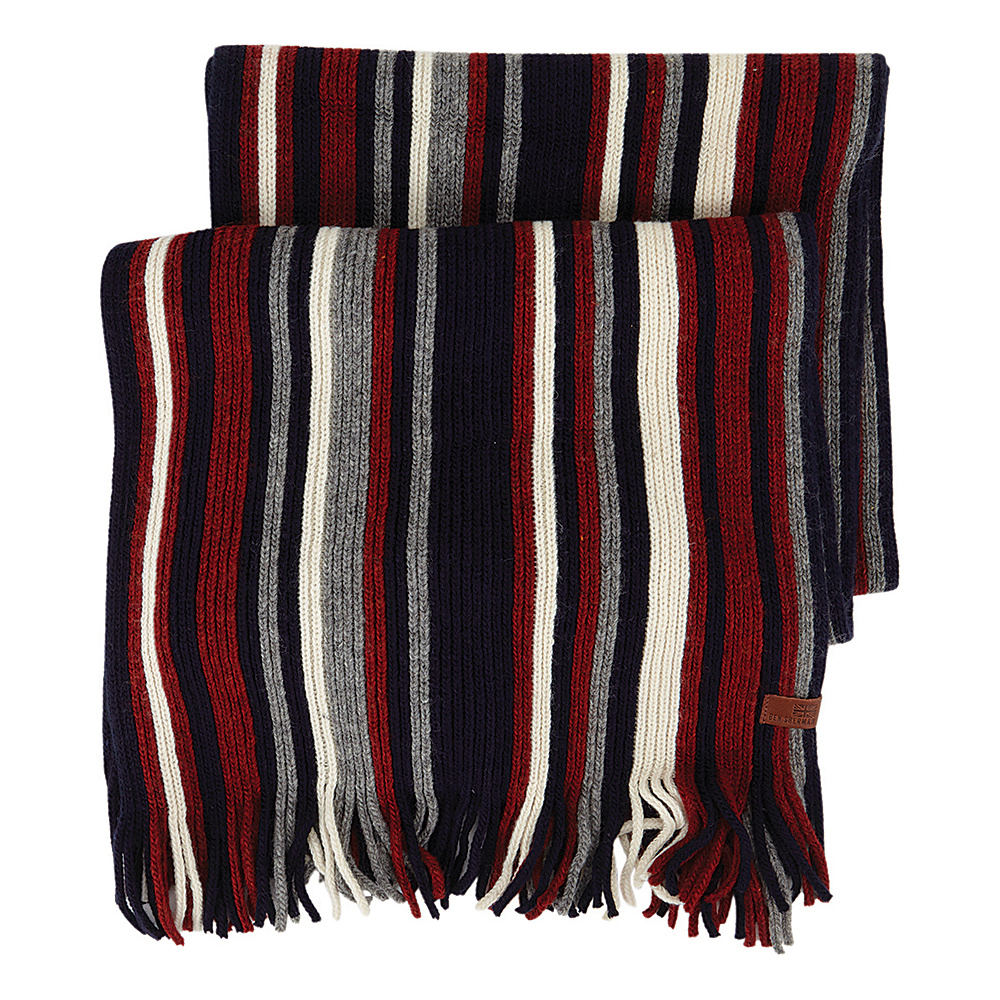 Ben Sherman Vertical Stripe Knit Scarf Navy Blazer Ben Sherman Hats Gloves Scarves