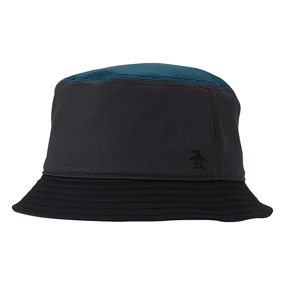 Original Penguin Hershel Bucket Hat Charcoal Small Medium Original Penguin Hats Gloves Scarves