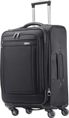 American Tourister Triumph 21 inch Spinner Black - American Tourister Softside Carry-On
