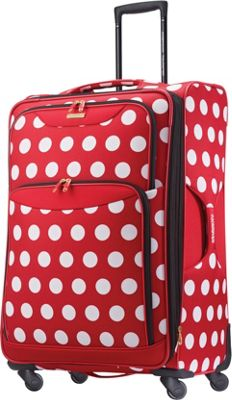 American Tourister Disney Minnie Mouse Softside Spinner 28 inch Minnie Mouse Polka Dot - American Tourister Softside Checked