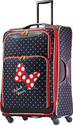 American Tourister Disney Minnie Mouse Softside Spinner 28 inch Minnie Mouse Red Bow - American Tourister Softside Checked