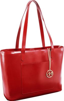 McKlein USA Alyson Tote Red - McKlein USA Women's Business Bags