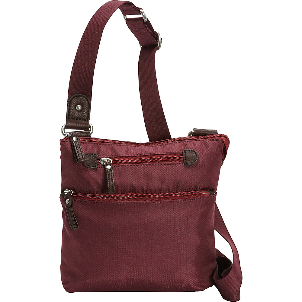 Osgoode Marley Small Crossbody Cranberry Osgoode Marley Fabric Handbags