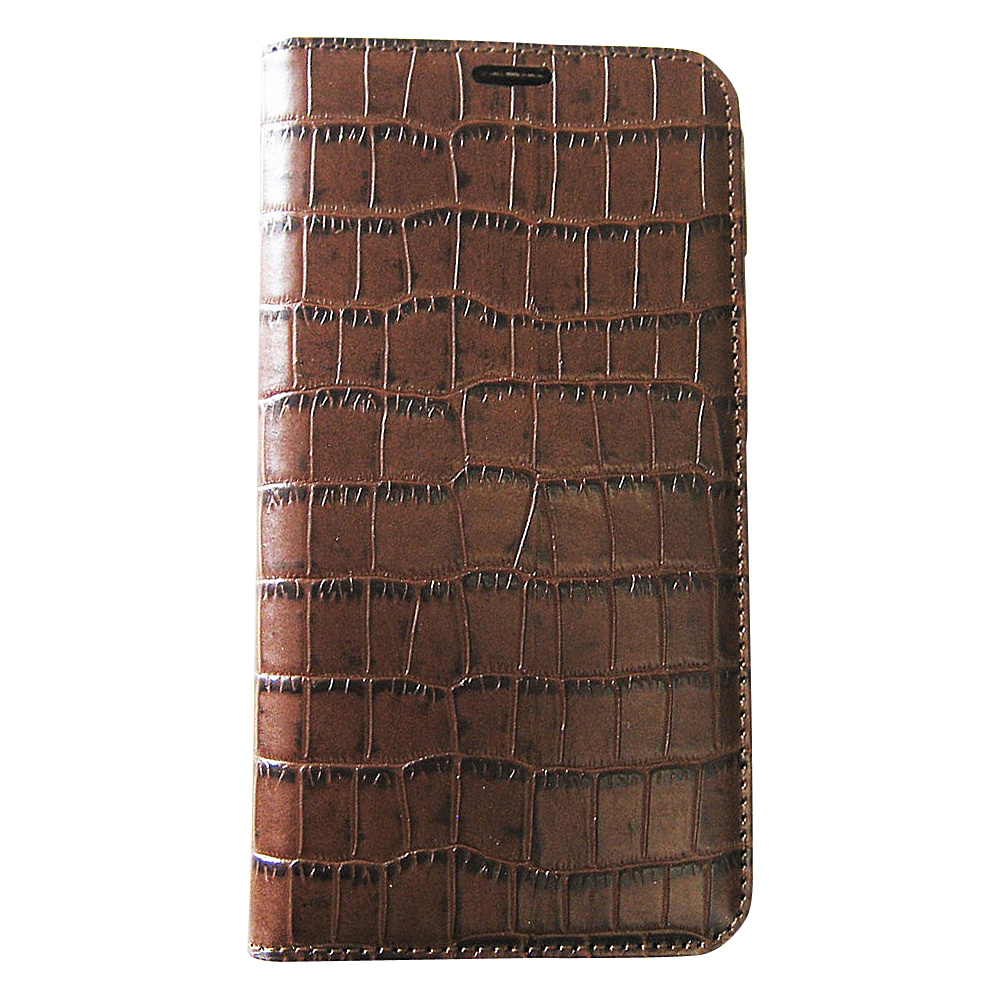 Tanners Avenue Samsung Galaxy S5 Leather Wallet Case Folio Brown Croc Tanners Avenue Electronic Cases