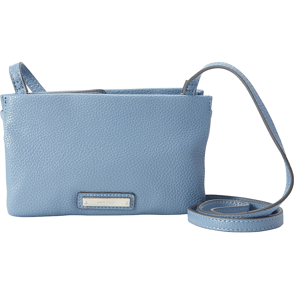 Sku 10401981 Nine West Handbags Table Treasure Triple Zip Crossbody Blue Sky