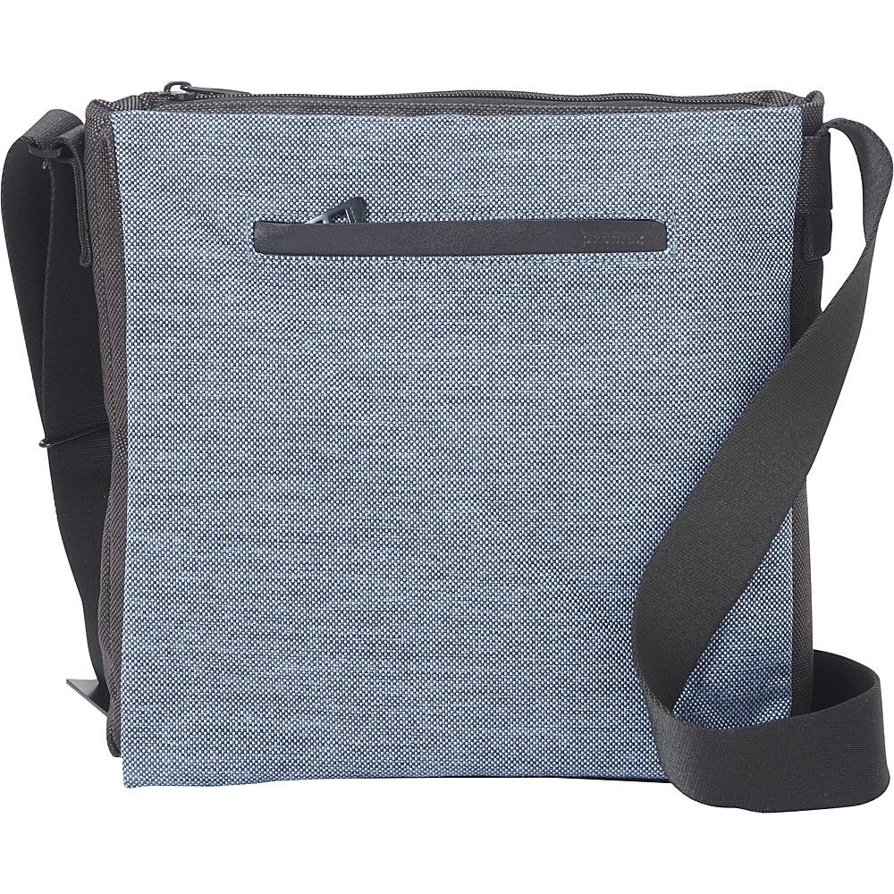 Promax Mode Vertical iPad Messenger Bag Black/Blue - Promax Men's Bags