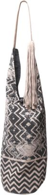 Ale by Alessandra Paz Tote Charcoal/ivory - Ale by Alessandra Fabric Handbags