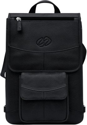 MacCase Premium Leather 12 inch MacBook Flight Jacket + Backpack Option Black - MacCase Other Men's Bags