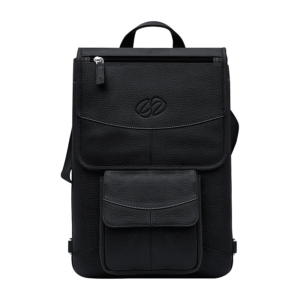 "MacCase Premium Leather 12"" MacBook Flight Jacket + Backpack Option Black - MacCase Other Men's Bags"