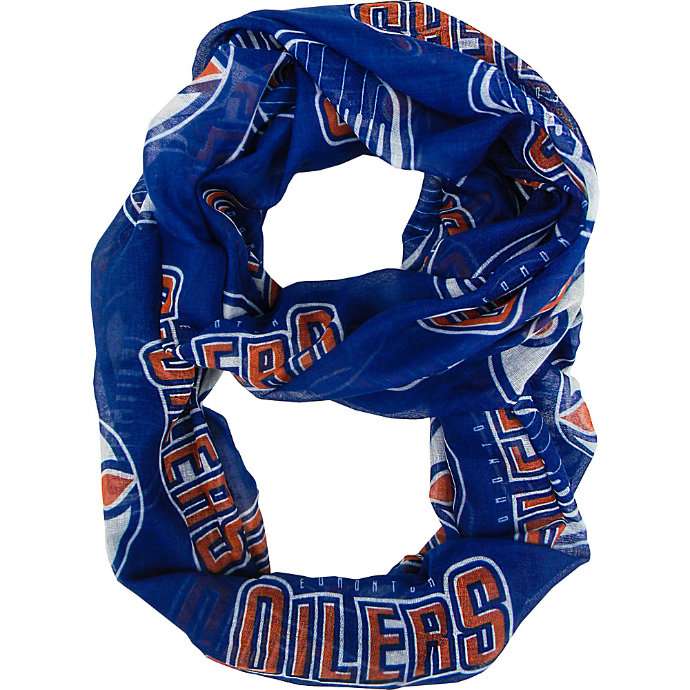 Littlearth Sheer Infinity Scarf - NHL Teams Edmonton Oilers - Littlearth Hats/Gloves/Scarves - Fashion Accessories, Hats/Gloves/Scarves