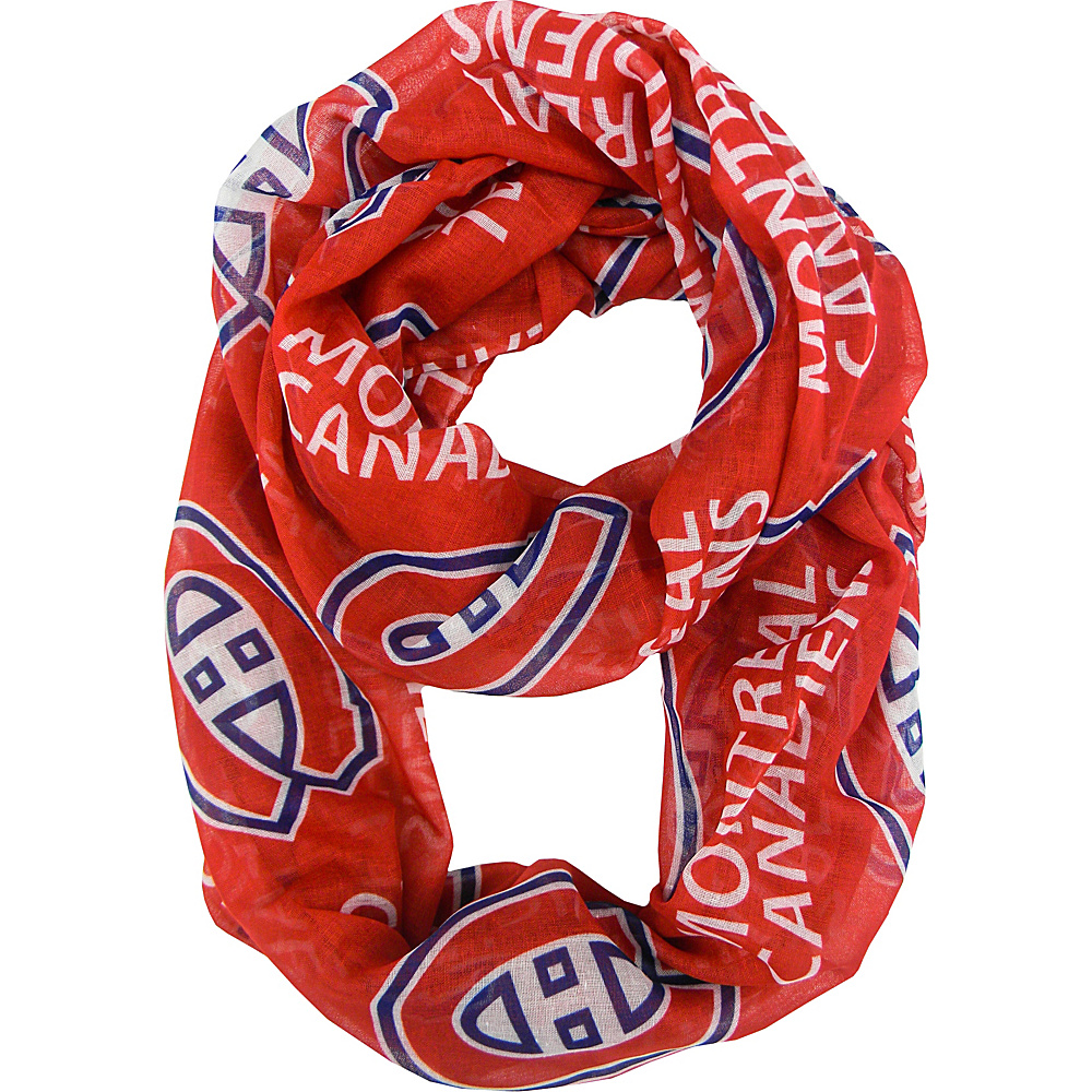 Littlearth Sheer Infinity Scarf - NHL Teams Montreal Canadiens - Littlearth Hats/Gloves/Scarves - Fashion Accessories, Hats/Gloves/Scarves