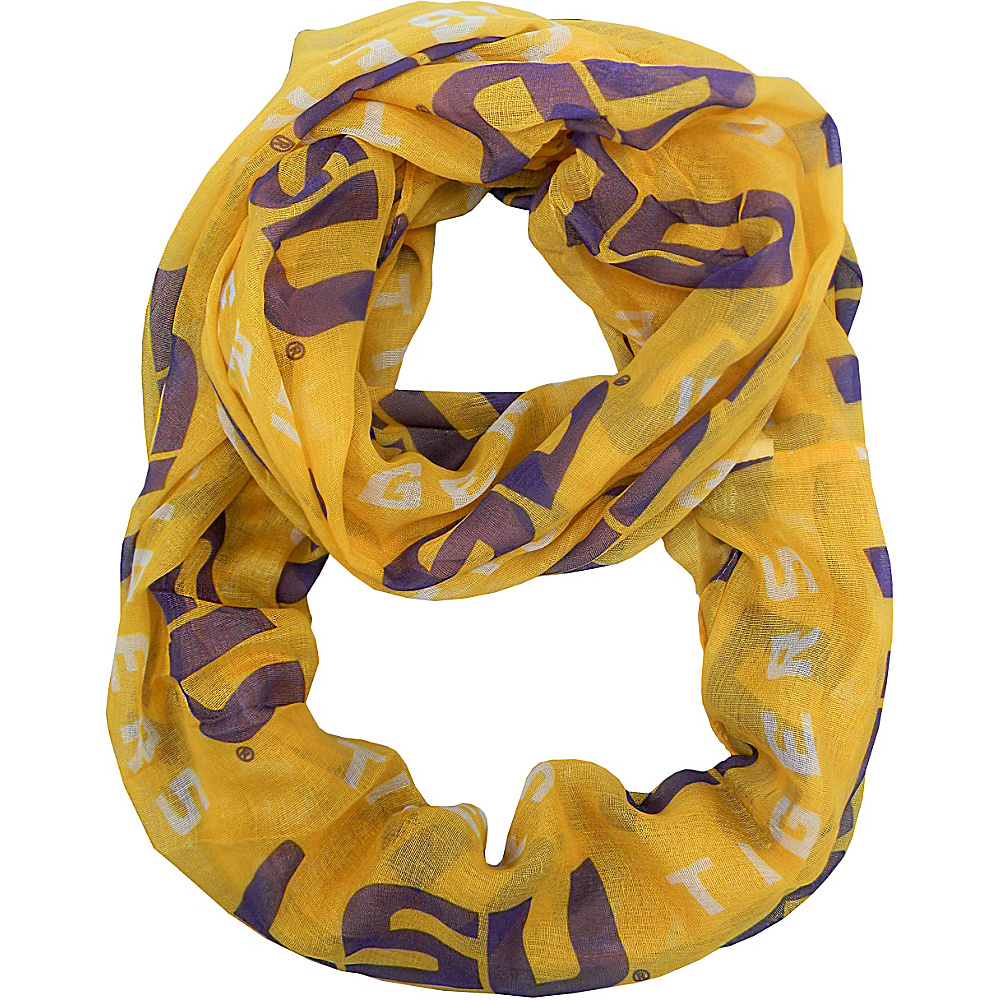Littlearth Sheer Infinity Scarf Alternate - SEC Teams Louisiana State University - Littlearth Hats/Gloves/Scarves - Fashion Accessories, Hats/Gloves/Scarves