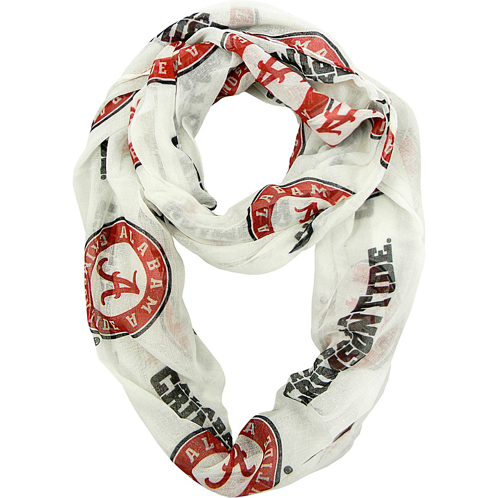Littlearth Sheer Infinity Scarf Alternate - SEC Teams Alabama, U of - Littlearth Hats/Gloves/Scarves - Fashion Accessories, Hats/Gloves/Scarves