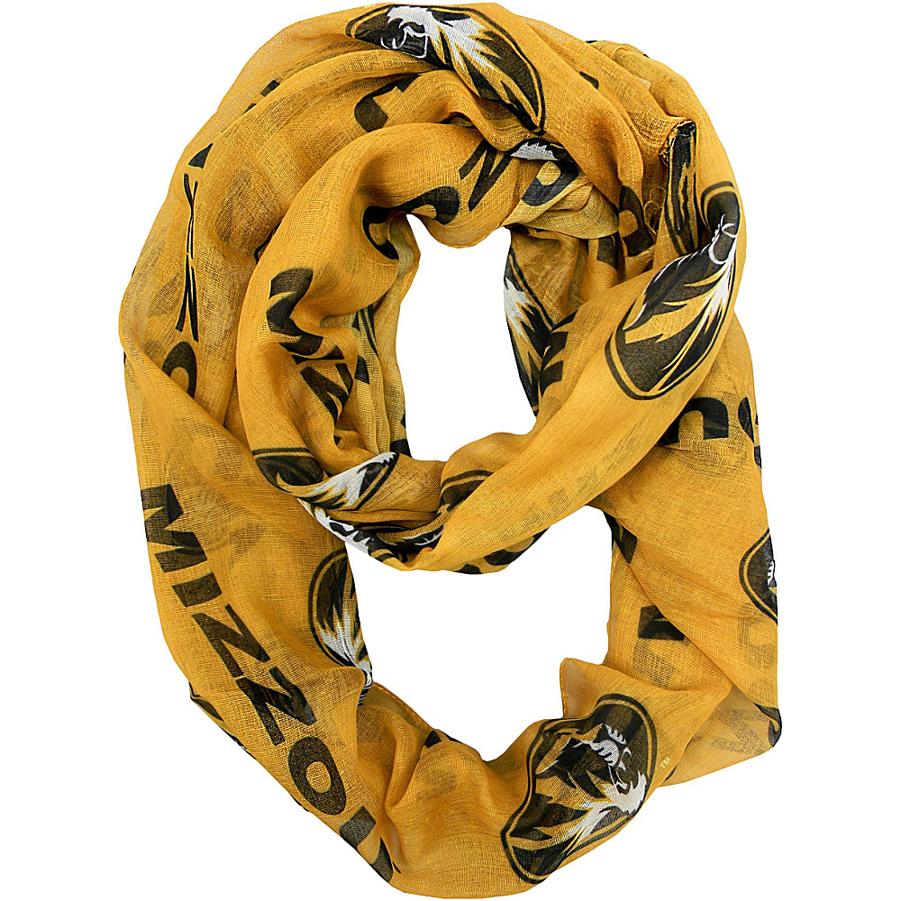 Littlearth Sheer Infinity Scarf Alternate - SEC Teams Missouri, U of - Littlearth Hats/Gloves/Scarves - Fashion Accessories, Hats/Gloves/Scarves
