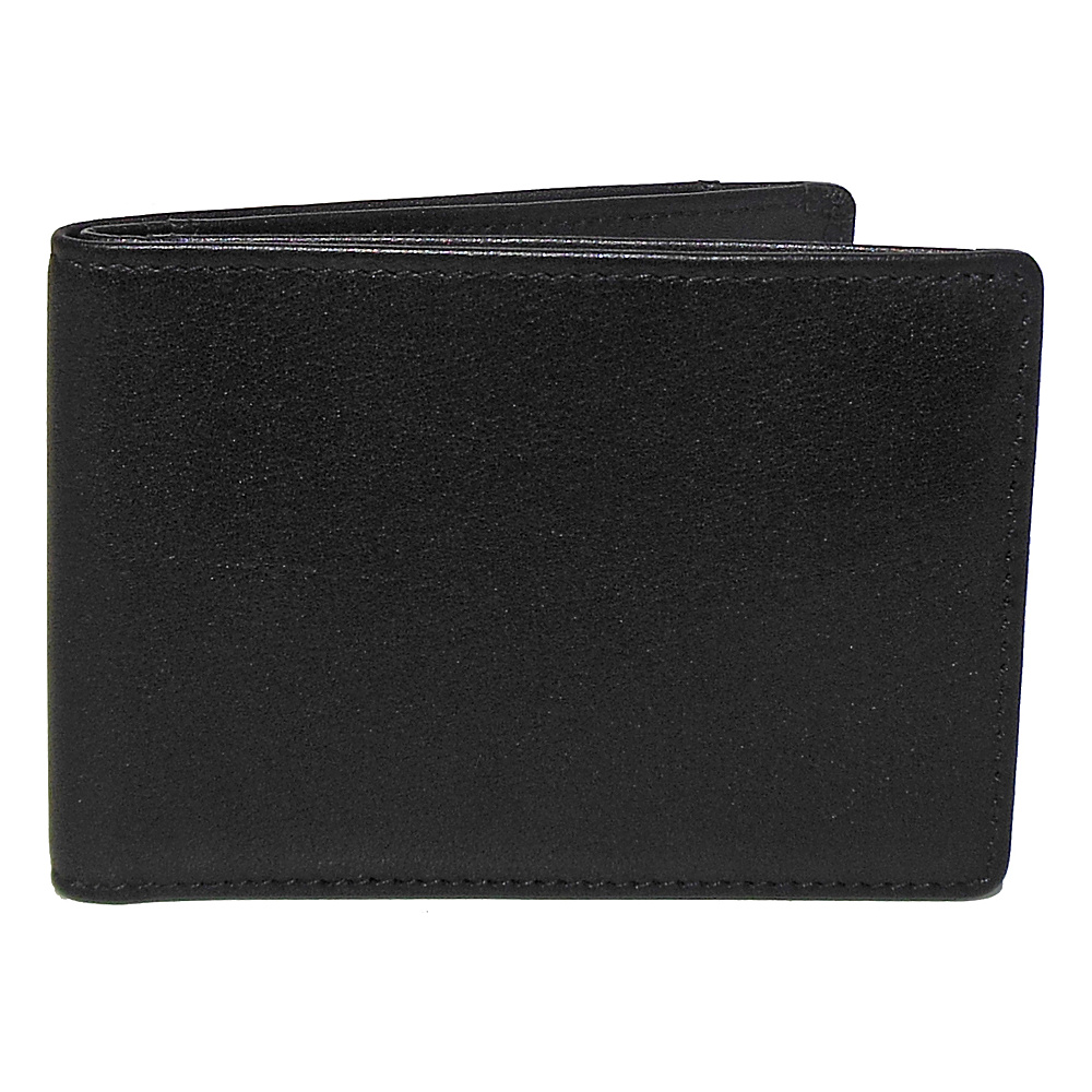 Boconi Grant RFID Slimster Black Leather with Gray Boconi Men s Wallets