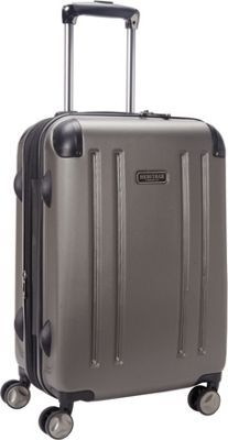 Heritage O'Hare 20 inch Expandable Carry-On 8 Wheel Spinner Silver - Heritage Hardside Carry-On