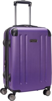 Heritage O'Hare 20 inch Expandable Carry-On 8 Wheel Spinner Purple - Heritage Hardside Carry-On
