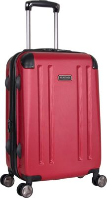 Heritage O'Hare 20 inch Expandable Carry-On 8 Wheel Spinner Barn Red - Heritage Hardside Carry-On