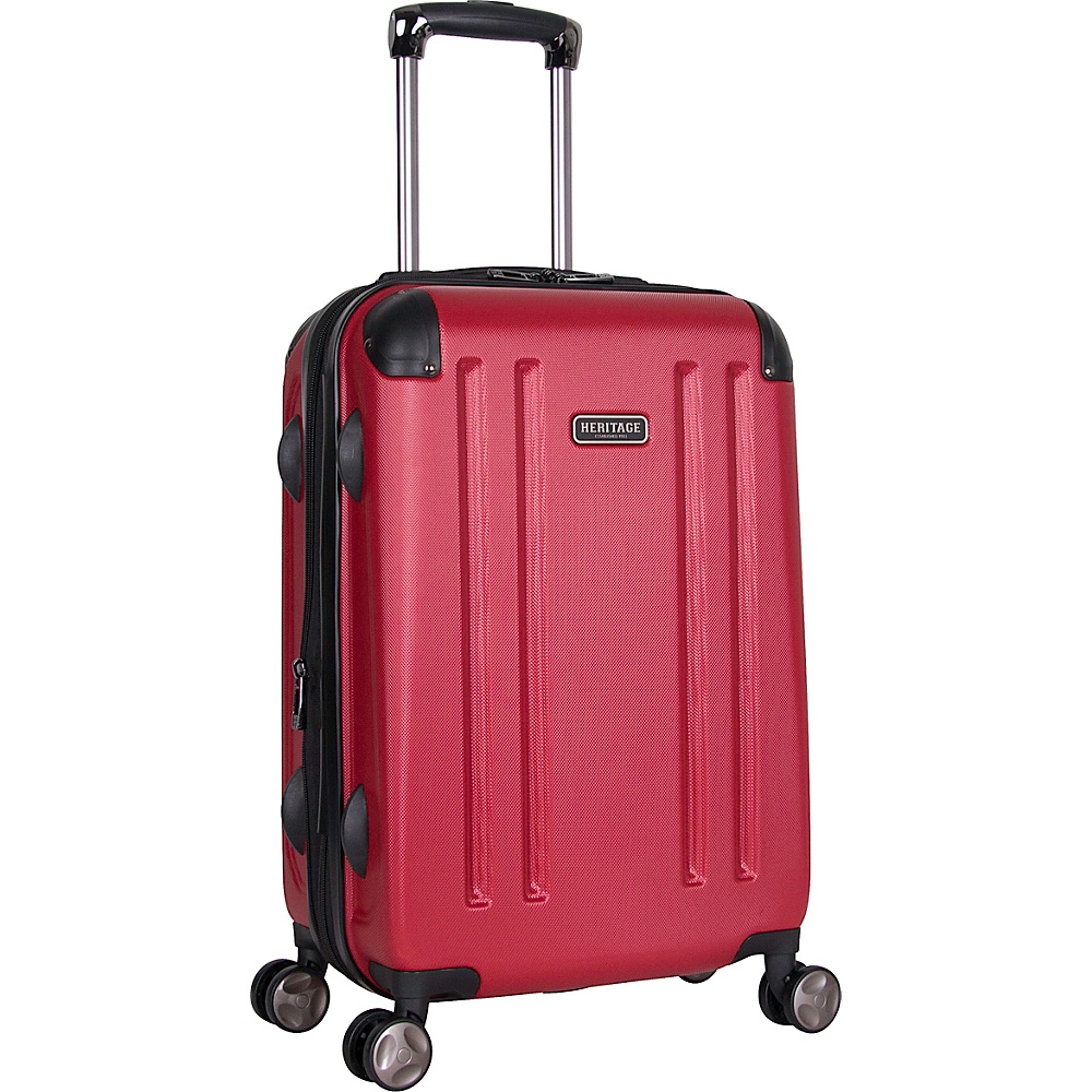 Heritage O Hare 20 Expandable Carry On 8 Wheel Spinner Barn Red Heritage Hardside Carry On