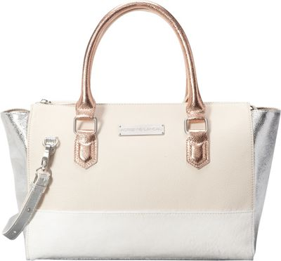 Image of Adrienne Landau Calypso Nolita Tote White - Adrienne Landau Leather Handbags