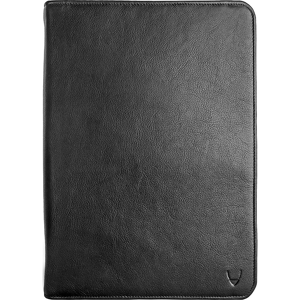 Hidesign IMG iPad Leather Portfolio Padfolio with Handmade Paper Notebook Black Hidesign Business Accessories