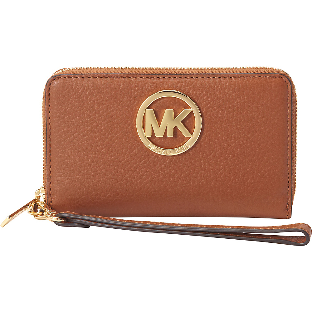 MICHAEL Michael Kors Fulton Large Flat Multifunction Phone Case Luggage - MICHAEL Michael Kors Designer Ladies Wallets