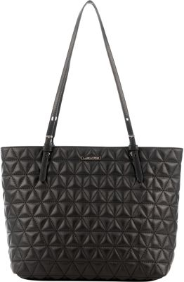 Lancaster Paris Parisienne Matelasse' Tote Black - Lancaster Paris Leather Handbags