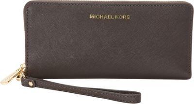 MICHAEL Michael Kors Jet Set Travel Continental Wallet Coffee - MICHAEL Michael Kors Designer Ladies Wallets