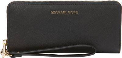 MICHAEL Michael Kors Jet Set Travel Continental Wallet Black - MICHAEL Michael Kors Women's Wallets 10389174