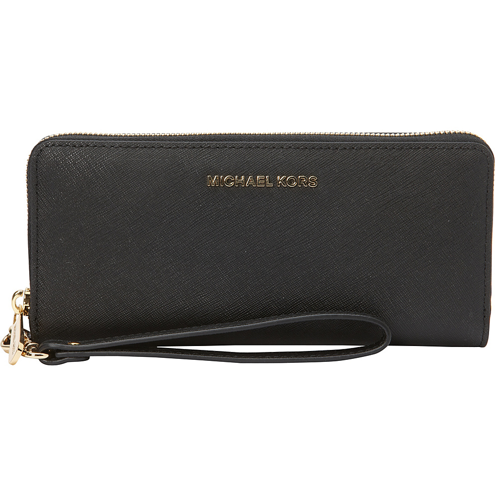 Michael Kors' collection of slick designs in a range of bright colors and detailed fastenings is the perfect complement to your look. Practical and stylish, your Michael Kors wallet will artfully hold your credit cards and coins while the convenient size will fit neatly into your handbag.