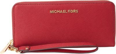 MICHAEL Michael Kors Jet Set Travel Continental Wallet Cherry - MICHAEL Michael Kors Women's Wallets 10389175