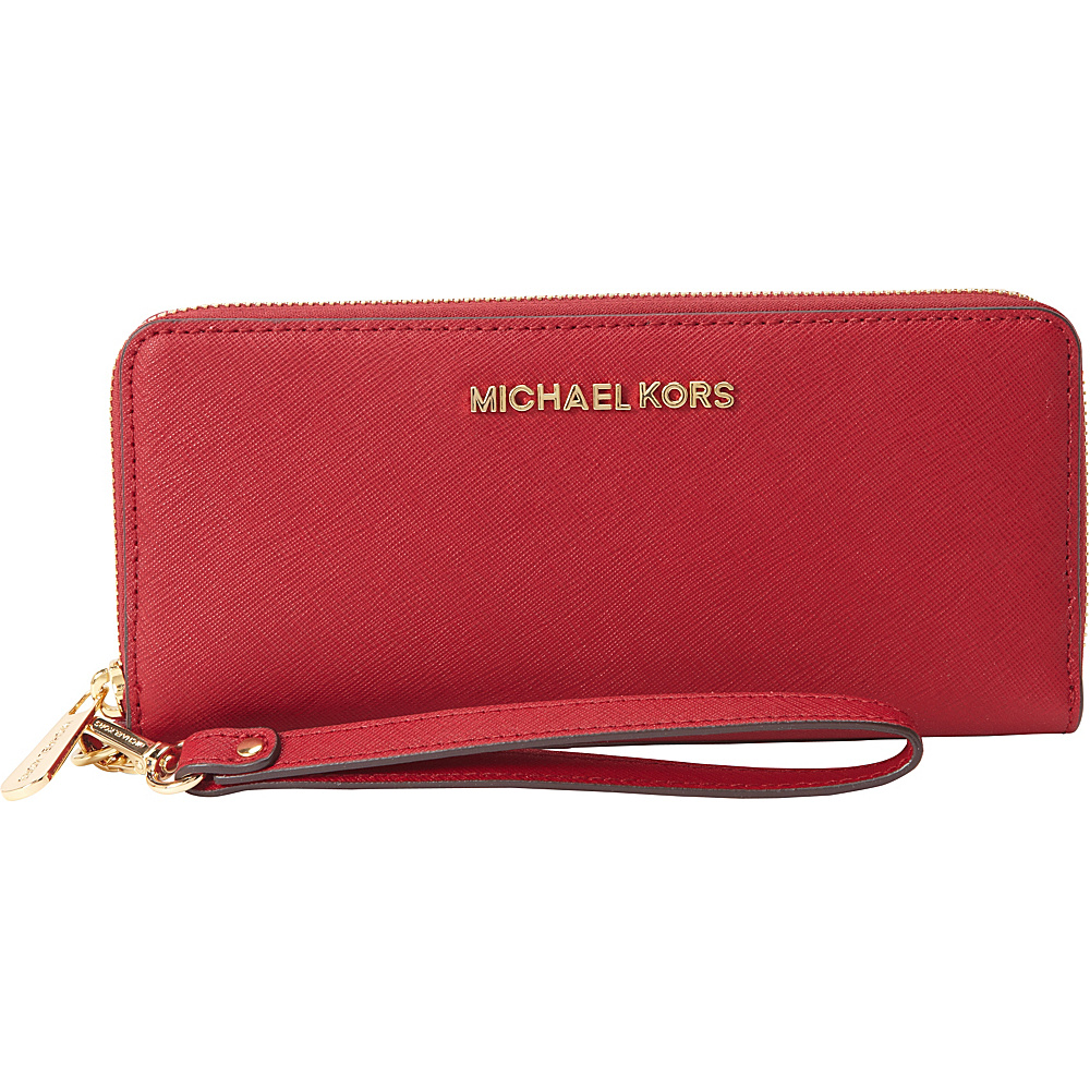 MICHAEL Michael Kors Jet Set Travel Continental Wallet Cherry MICHAEL Michael Kors Women s Wallets