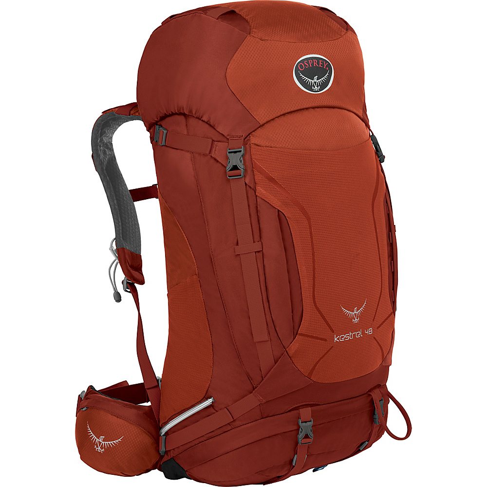 Osprey Kestrel 48 Hiking Backpack Dragon Red - M/L - Osprey Backpacking Packs - Outdoor, Backpacking Packs