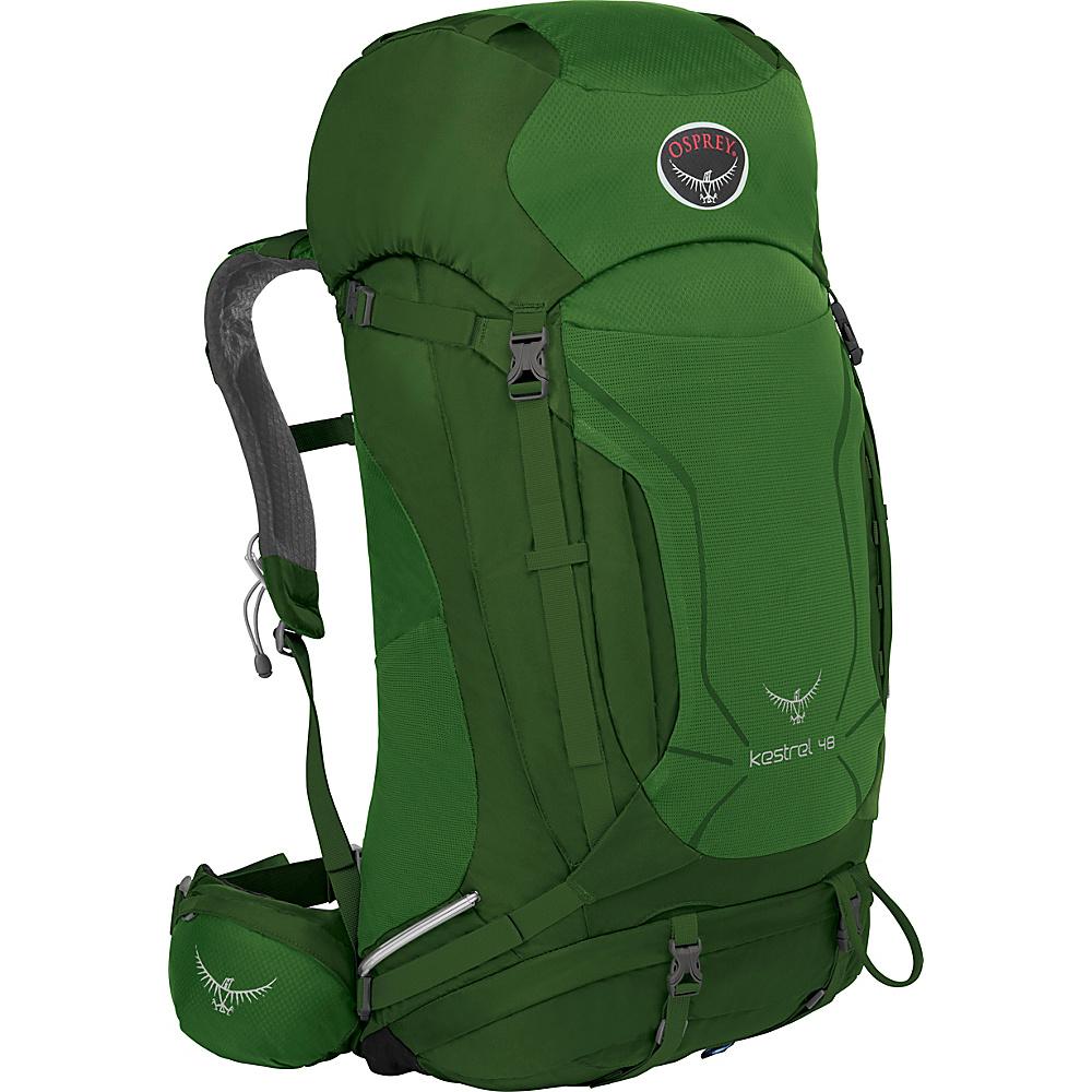 Osprey Kestrel 48 Hiking Backpack Jungle Green - M/L - Osprey Backpacking Packs - Outdoor, Backpacking Packs