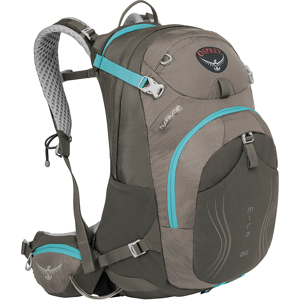 Osprey Mira AG 26 Hydration Pack Misty Grey - S/M - Osprey Day Hiking Backpacks - Outdoor, Day Hiking Backpacks