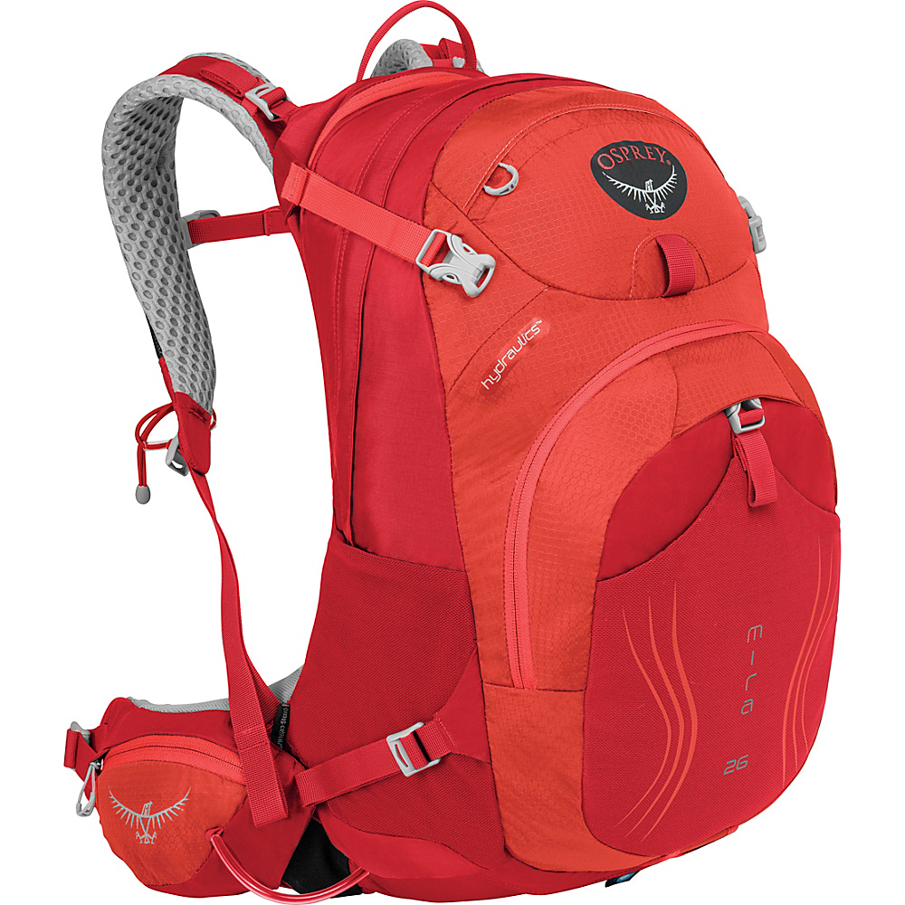 Osprey Mira AG 26 Hydration Pack Cherry Red - S/M - Osprey Day Hiking Backpacks - Outdoor, Day Hiking Backpacks