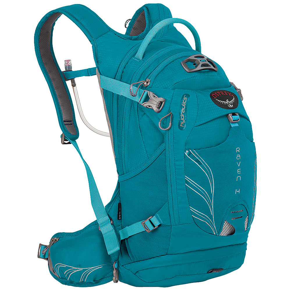 Osprey Raven 14 Biking Backpack Tempo Teal - Osprey Day Hiking Backpacks - Outdoor, Day Hiking Backpacks