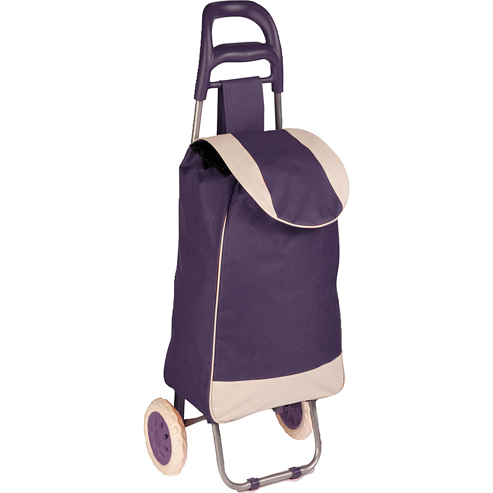 Honey Can Do Rolling Fabric Cart purple Honey Can Do Luggage Accessories
