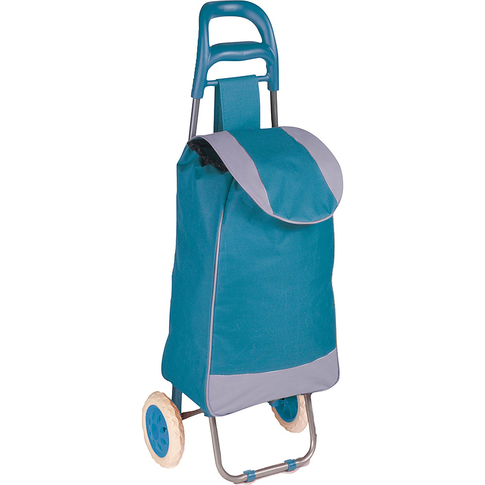 Honey Can Do Rolling Fabric Cart blue Honey Can Do Luggage Accessories
