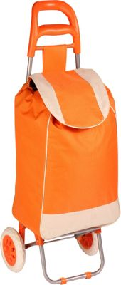 Honey-Can-Do Honey-Can-Do Rolling Fabric Cart orange - Honey-Can-Do Luggage Accessories