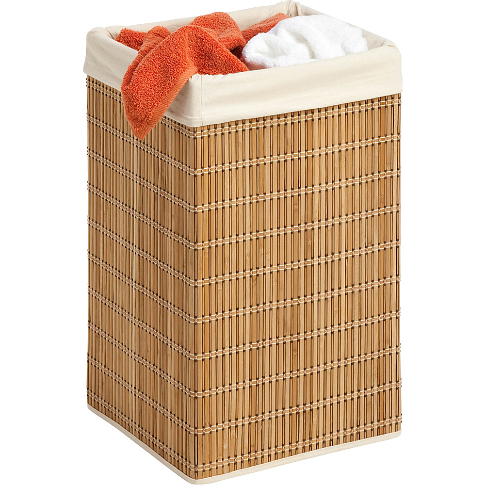 Honey Can Do Square Bamboo Wicker Hamper natural Honey Can Do Travel Health Beauty