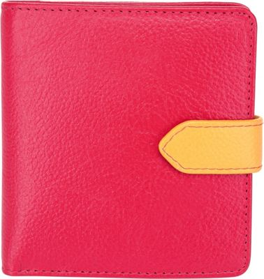 Image of Ann Shelby Desiree Compact Leather Ladies Wallet Red - Ann Shelby Ladies Small Wallets