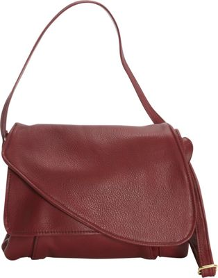 Victoria Leather Tulip Crossbody Marsala - Victoria Leather Leather Handbags